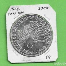 Monedas antiguas de Europa: PLATA-PORTUGAL. 1000 ESCUDOS 2000. PRESIDENCIA CONS.EUROPA 28 GRAMOS DE LEY 0,500. Lote 235681320