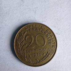 Monedas antiguas de Europa: MONEDA FRANCIA 20 CÉNTIMOS 1976. Lote 235821250