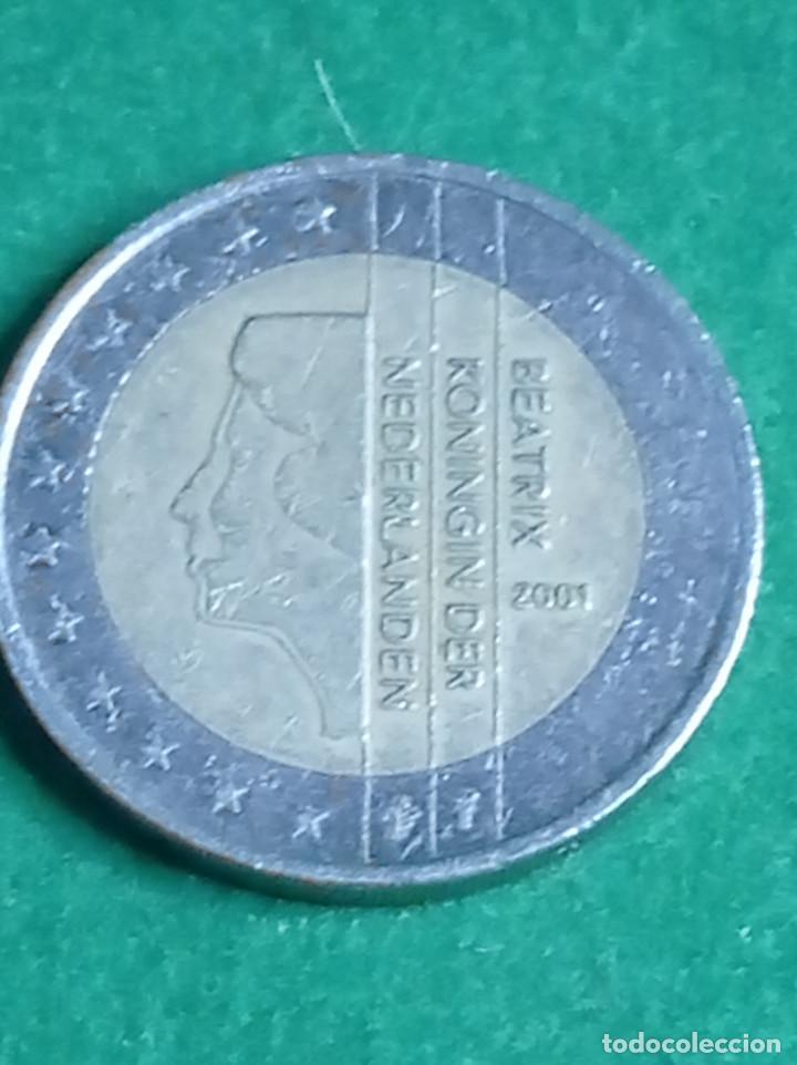 Monedas antiguas de Europa: moneda 2 euros beatrix koningin der nederlanden 2001 - Foto 5 - 235985400