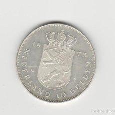 Monedas antiguas de Europa: HOLANDA- 10 GULDEN-1973-SC. Lote 236072750