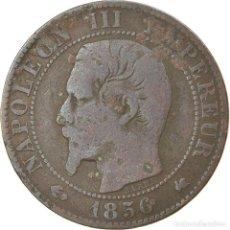 Monedas antiguas de Europa: MONEDA, FRANCIA, NAPOLEON III, NAPOLÉON III, 5 CENTIMES, 1856, BORDEAUX, MBC. Lote 236369130