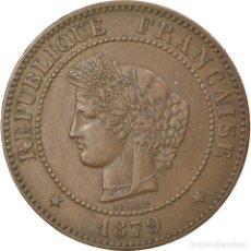 Monedas antiguas de Europa: MONEDA, FRANCIA, CÉRÈS, 5 CENTIMES, 1879, PARIS, MBC, BRONCE, KM:821.1. Lote 236369720