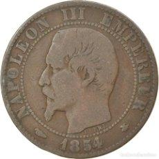 Monedas antiguas de Europa: MONEDA, FRANCIA, NAPOLEON III, NAPOLÉON III, 5 CENTIMES, 1854, STRASBOURG, BC+. Lote 236370520