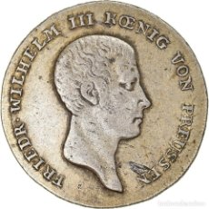 Monedas antiguas de Europa: MONEDA, ESTADOS ALEMANES, PRUSSIA, FRIEDRICH WILHELM III, 1/6 THALER, 1813. Lote 236372425