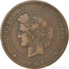 Monedas antiguas de Europa: MONEDA, FRANCIA, CÉRÈS, 10 CENTIMES, 1874, PARIS, MBC, BRONCE, KM:815.1. Lote 236371170