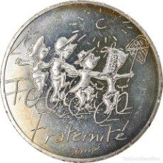 Monedas antiguas de Europa: FRANCIA, SEMPÉ - FRATERNITÉ, 10 EURO, 2014, SC+, PLATA. Lote 236372050