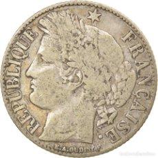 Monedas antiguas de Europa: MONEDA, FRANCIA, CÉRÈS, FRANC, 1894, PARIS, MBC, PLATA, KM:822.1, GADOURY:465A. Lote 236372305