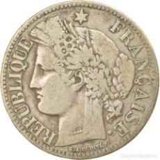Monedas antiguas de Europa: MONEDA, FRANCIA, CÉRÈS, 2 FRANCS, 1870, PARIS, BC+, PLATA, KM:817.1. Lote 236372870