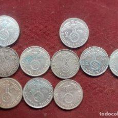 Monedas antiguas de Europa: ALEMANIA NAZI. 10 MONEDAS DIFERENTES DE 2 MARCOS DE PLATA. Lote 236425280