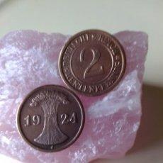 Monedas antiguas de Europa: ALEMANIA MONEDA REPÚBLICA DE WEIMAR (REICHSMARK) - 2 RENTENPFENNIG - AÑO 1924 J -7.459.000 PIEZAS -. Lote 236554945