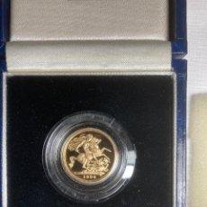Monedas antiguas de Europa: 1994 MEDIO SOBERANO ORO 22K PRUEBA ROYAL MINT REINO UNIDO EN ESTUCHE CON CERTIFICADO DE AUTENTICIDAD. Lote 236668570