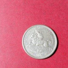 Monedas antiguas de Europa: 2 DULITU DE LITUANIA 1925. PLATA. Lote 236946665