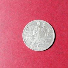 Monedas antiguas de Europa: 1 LEU DE RUMANÍA 1912. PLATA. Lote 236948130