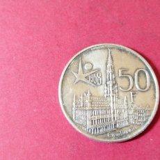 Monedas antiguas de Europa: 50 FRANCOS DE BÉLGICA 1958. PLATA. Lote 236952385