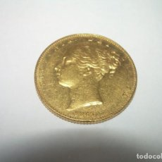 Monedas antiguas de Europa: 1 LIBRA DE ORO VICTORIA REINA..RARA EN EL DORSO LLEVA ESCUDO Y NO COMO LAS HABITUALES.AÑO.1847.. Lote 236971260