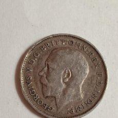 Monedas antiguas de Europa: MONEDA PLATA GEORGIVS V. 3 PENCE, AÑO 1911.. Lote 236980440