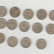 Monedas antiguas de Europa: INGLATERRA/GRAN BRETANIA- LOTE DE 14 MONEDAS DE 1 LIBRA/POUND. Lote 237108260