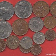 Monedas antiguas de Europa: LOTE REINO UNIDO 16 MONEDAS, 1 CHELÍN 1947 Y 1/2, 1, 2, 3, 6, 10 Y 50 PENIQUES AÑOS VARIADOS. Lote 237131385