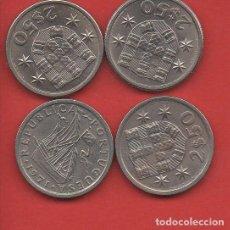 Monedas antiguas de Europa: LOTE PORTUGAL, 4 MONEDAS DE 2,50 ESCUDOS, AÑOS 1963, 64, 71 Y 74, MBC. Lote 237132580
