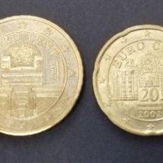Monedas antiguas de Europa: AUSTRIA LOTE 4 MONEDAS (1 EURO, 50,20 Y 10 CÉNTIMOS) AÑO 2002; CIRCULADAS (BC+). Lote 237299680