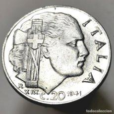 Moedas antigas da Europa: AB283. EBC++. 1941. 20 CENTESIMI. ITALIA. Lote 237652575