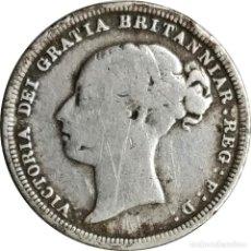 Monedas antiguas de Europa: REINO UNIDO. 6 PENIQUES 1887, ANVERSO PELO ONDULADO SIN CORONA (REINA VICTORIA). (082),. Lote 199836117