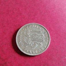 Monedas antiguas de Europa: 9 PIASTRAS DE CHIPRE 1938. PLATA. Lote 239371130