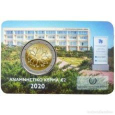 Monedas antiguas de Europa: CHIPRE 2020 2€ COINCARD 30 AÑOS DEL INSTITUTO DE NEUROLOGÍA Y GENÉTICA DE CHIPRE. Lote 239422055