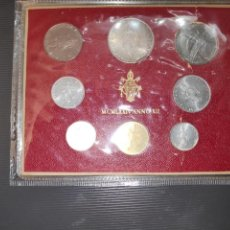 Monedas antiguas de Europa: VATICANO CARTERA SET OFICIAL MONEDAS PABLO VI AÑO 1974 (MCMLXXIV - ANNO XII)*CON PLATA*. Lote 240088350