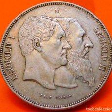 Monedas antiguas de Europa: BELGICA-MEDALLA, 5 FRANCOS, 1880. PLATA. MBC+. (860). Lote 240117040