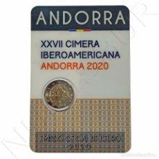 Monedas antiguas de Europa: ANDORRA 2 EUROS 2020 XXVII CUMBRE IBEROAMERICANA 70.000 TIRADA. Lote 240381340
