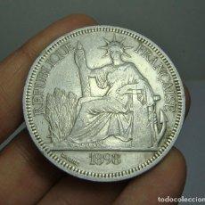 Monedas antiguas de Europa: 1 PIASTRE. PLATA. REPÚBLICA FRANCESA. INDOCHINA - 1898. Lote 240437670