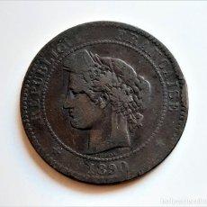 Moedas antigas da Europa: 1890 FRANCIA 10 CENTIMES - BRONCE. Lote 242126050