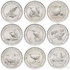 """Monedas antiguas de Europa: TURQUÍA SET DE 15 MONEDAS 1 KURUSH 2018 """"LIBRO ROJO - PÁJAROS"""". Lote 242176805"""