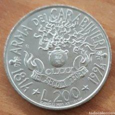 Monedas antiguas de Europa: MONEDA CONMEMORATIVA ITALIA 200 LIRAS ARMA DEL CARABINIERI 1814 - 1994. Lote 242187410