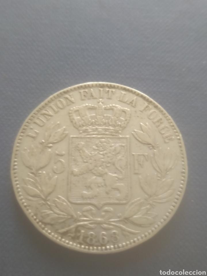 5 FRANCOS BELGAS 1868 (Numismática - Extranjeras - Europa)