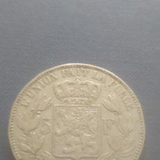 Monedas antiguas de Europa: 5 FRANCOS BELGAS 1868. Lote 242296855
