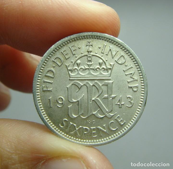 Monedas antiguas de Europa: 6 Peniques. Plata. George VI. Reino Unido - 1943. SC - Foto 2 - 242479185