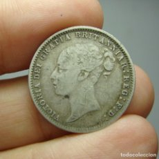 Monedas antiguas de Europa: 6 PENIQUES (6 PENCE). PLATA. VICTORIA. REINO UNIDO - 1874. Lote 242489365