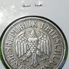 Monedas antiguas de Europa: UN MARK DE 1950 LETRA F. SE ENTREGA ENCARTONADA. Lote 242849690