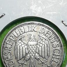 Monedas antiguas de Europa: ALEMANIA. UN MARK DE 1950 LETRA J. ADJUNTO PEDIDOS. ENCARTONADA. Lote 242851060