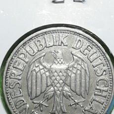 Monedas antiguas de Europa: ALEMANIA.. UN MARK DE 1950 LETRA J. ENCARTONADA. ADJUNTO PEDIDOS. Lote 242852410