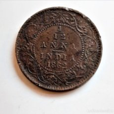 Monnaies anciennes de Europe: 1862 INDIA 1 1/2 ANNA. Lote 243046075
