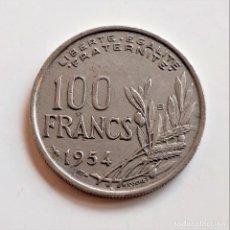 Monnaies anciennes de Europe: 1954 FRANCIA 100 FRANCS. Lote 243046640