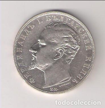MONEDA DE 5 LEVA DE BULGARIA DE 1894. PLATA. MBC. (ME904) (Numismática - Extranjeras - Europa)