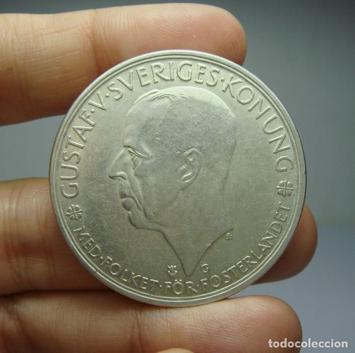 5 KRONOR. PLATA. GUSTAF V. SUECIA - 1935 (Numismática - Extranjeras - Europa)