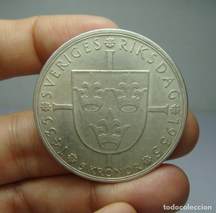 Monedas antiguas de Europa: 5 Kronor. Plata. Gustaf V. Suecia - 1935 - Foto 2 - 243900510