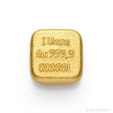Monedas antiguas de Europa: LINGOTE DE ORO FUNDIDO C HAFNER DE 1 OZ. Lote 244701590