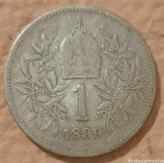 Monedas antiguas de Europa: AUSTRIA. 1 CORONA 1899. PLATA. IMPERIO AUSTROHÚNGARO.. Lote 244766290