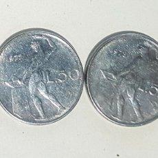 Monedas antiguas de Europa: ITALIA. CUATRO MONEDAS DE 50 LIRAS. AÑOS 1976, 77, 78 Y 79. Lote 244865070